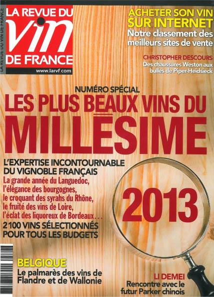 La RVF Numéro spécial – Les plus beaux vins du millésime 2013 – Juin 2014